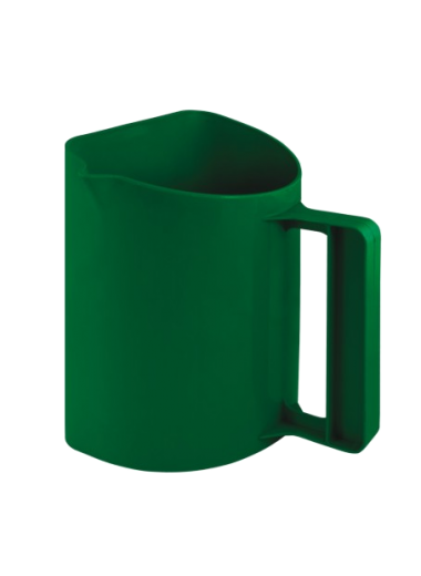 Miarka do paszy plastikowa zielona 2 kg