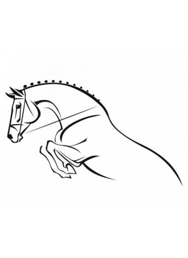 York Naklejka Koń skaczący czarna 24h
