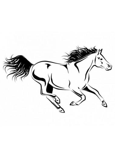 York Naklejka Galopujący koń czarna 24h