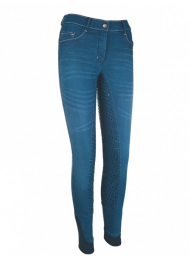 HKM Bryczesy Summer Denim Easy lej 3/4 silikon 24h