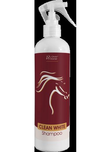 Clean White Shampoo Over Horse suchy szampon dlaa siwych koni 400ml