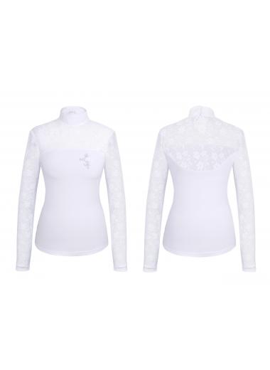 FAIR PLAY Koszulka Lucia długi rękaw biała