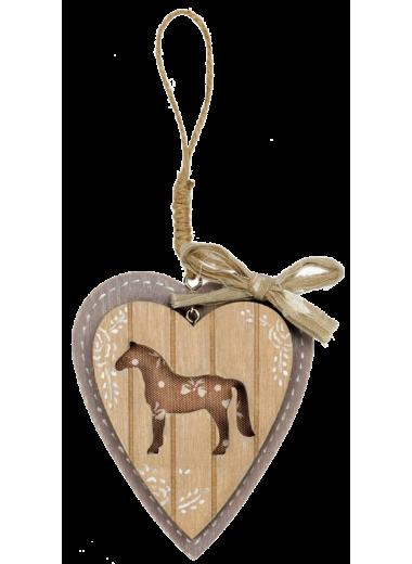 HR Ozdoba serce z koniem małe