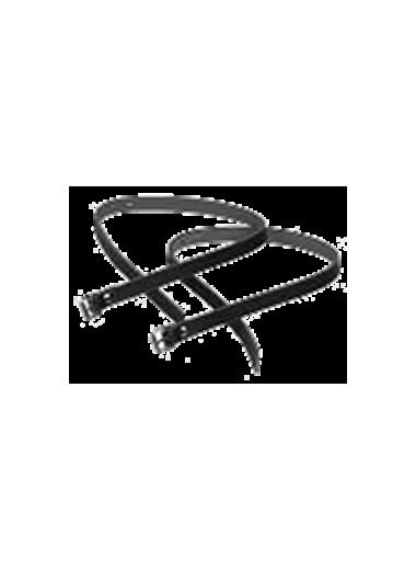 Paski do ostróg skórzane nitowane Daw mag czarne