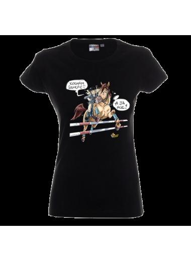 """Lucky Horse Koszulka """"Kocham skakać"""""""