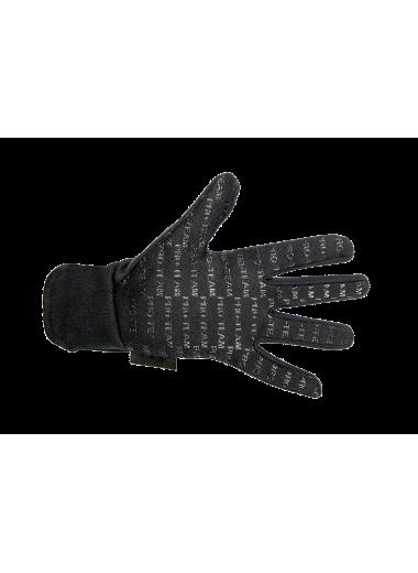 Rękawiczki HKM Fleece czarne ciepłe