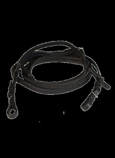 Wodze FAIR PLAY gumowe-cienkie czarne FULL
